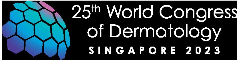 25th World Congress of Dermatology Singapore 2023 logo